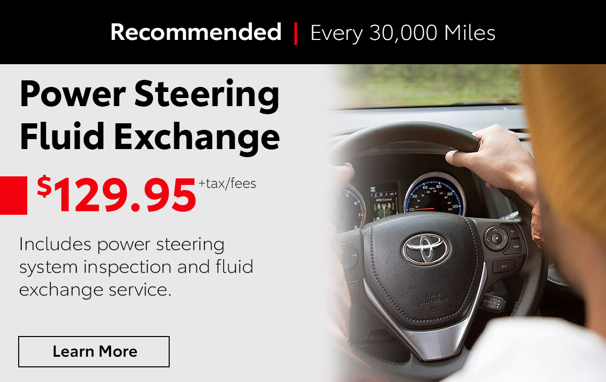 Toyota Power Steering Fluid Exchange Service Special Coupon