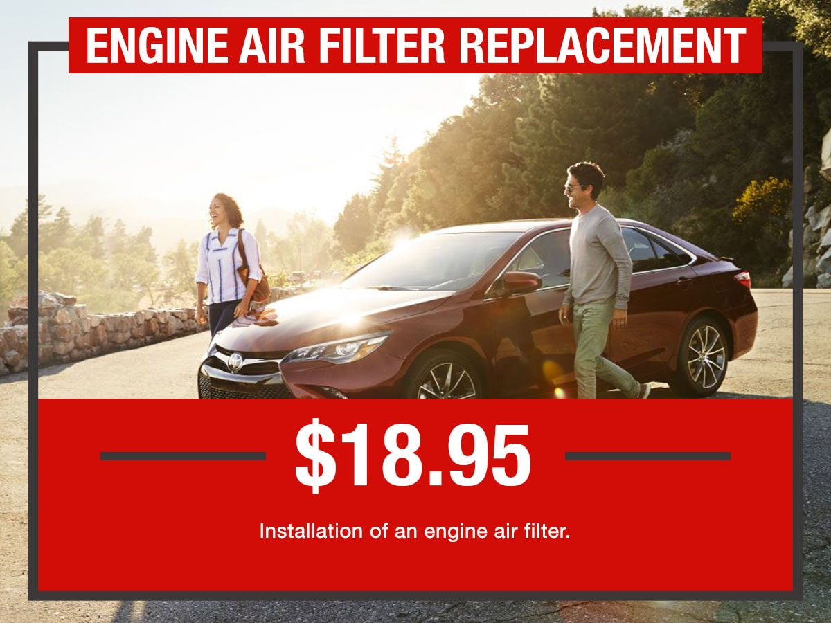 Engine Air Filter Replacement Service Special