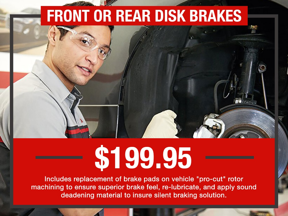 Front or Rear Disk Brakes Service Special