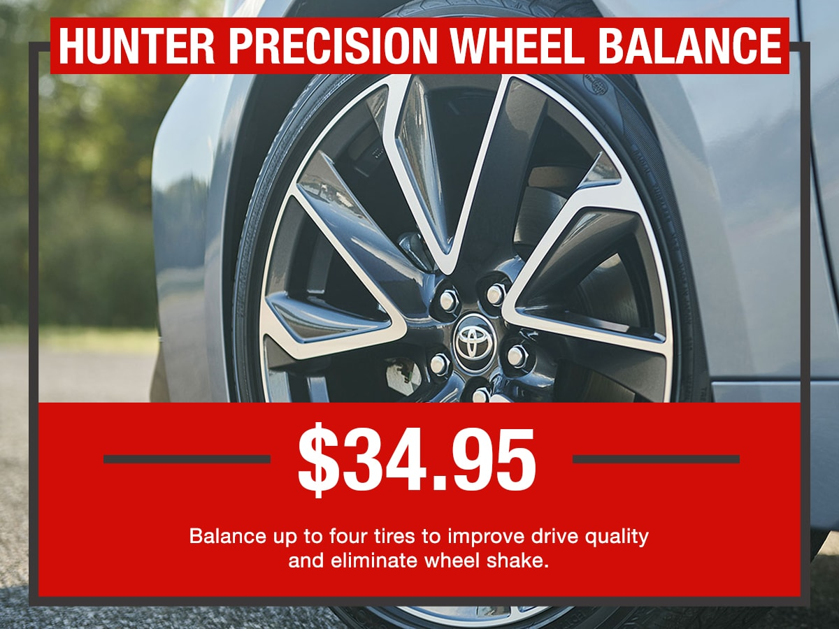 Hunter Precision Wheel Balance Service Special