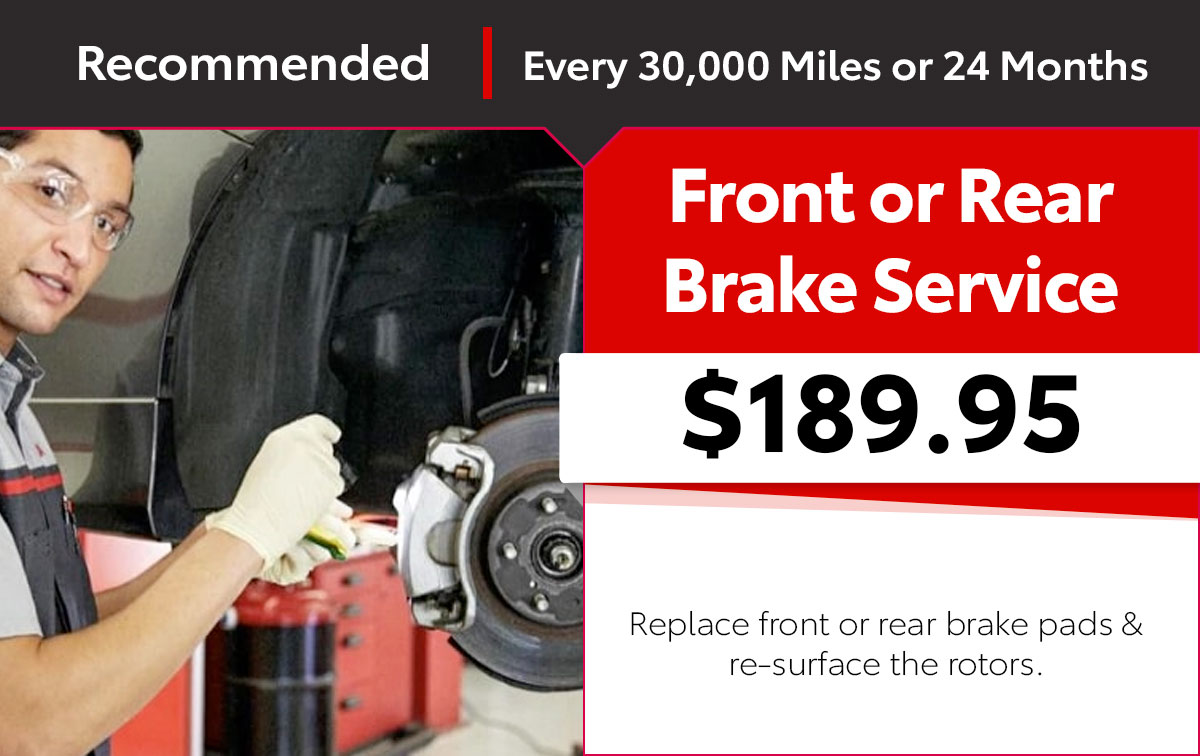 Toyota Brake Pad Service Special