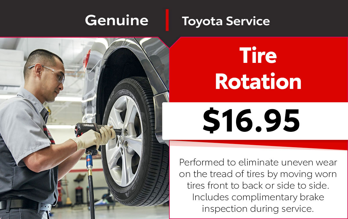 Toyota Tire Rotation Service Special