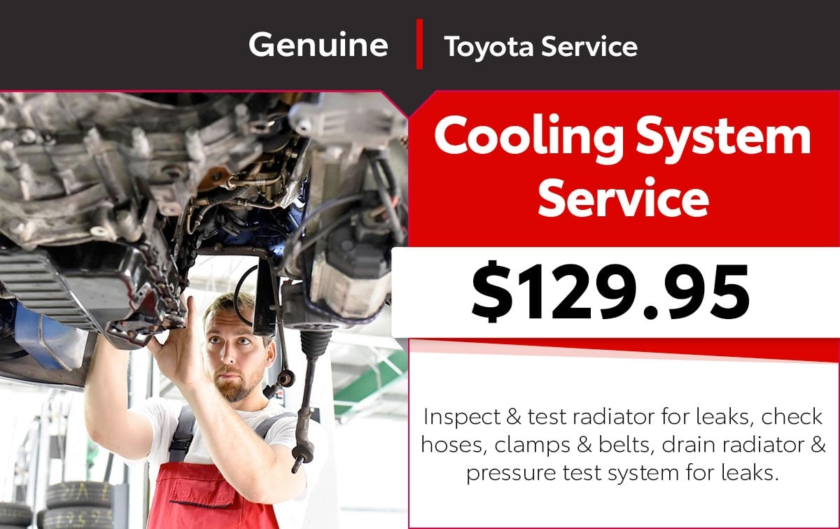 Toyota Cooling System Special Coupon