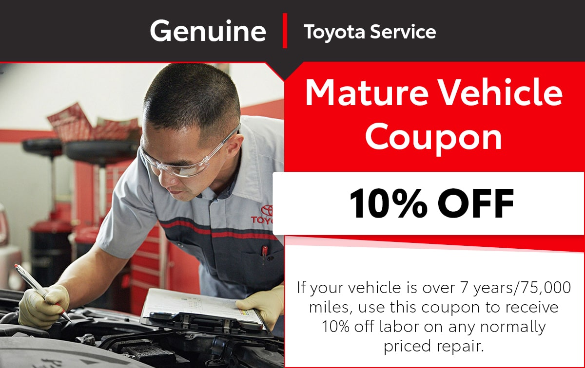 Toyota Mature Vehicle Service Special Coupon