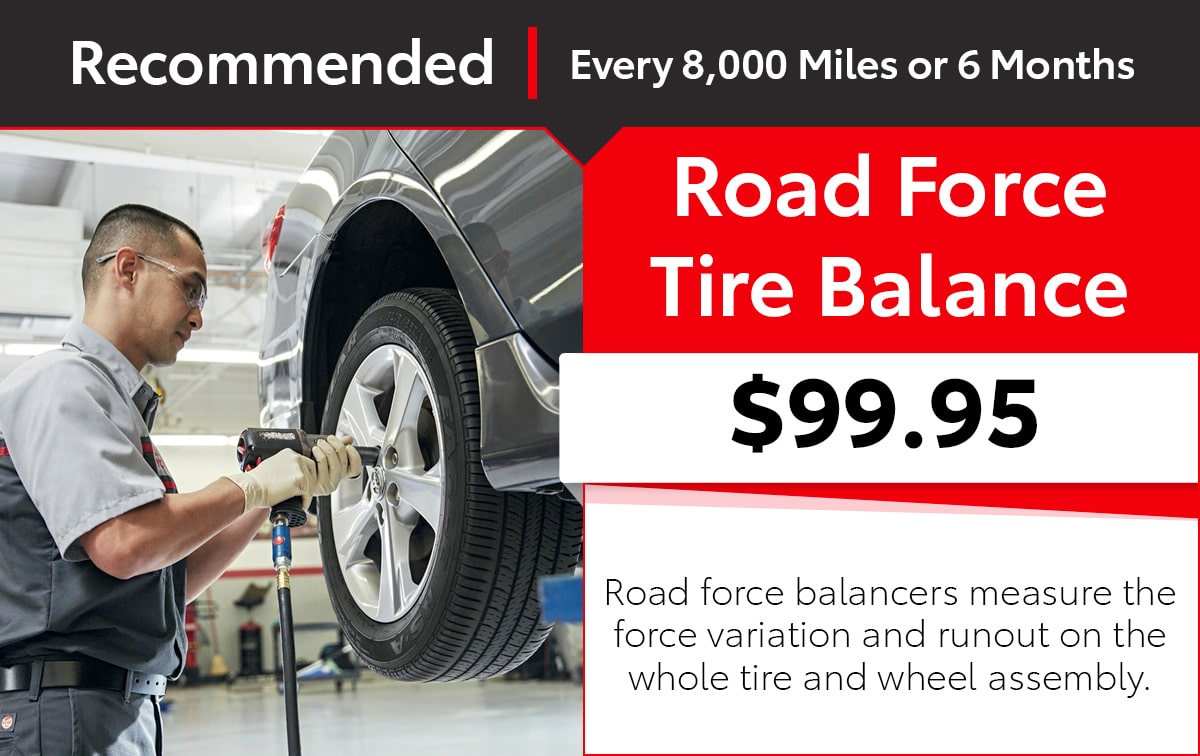 Toyota Road Force Tire Balance Service Special Coupon