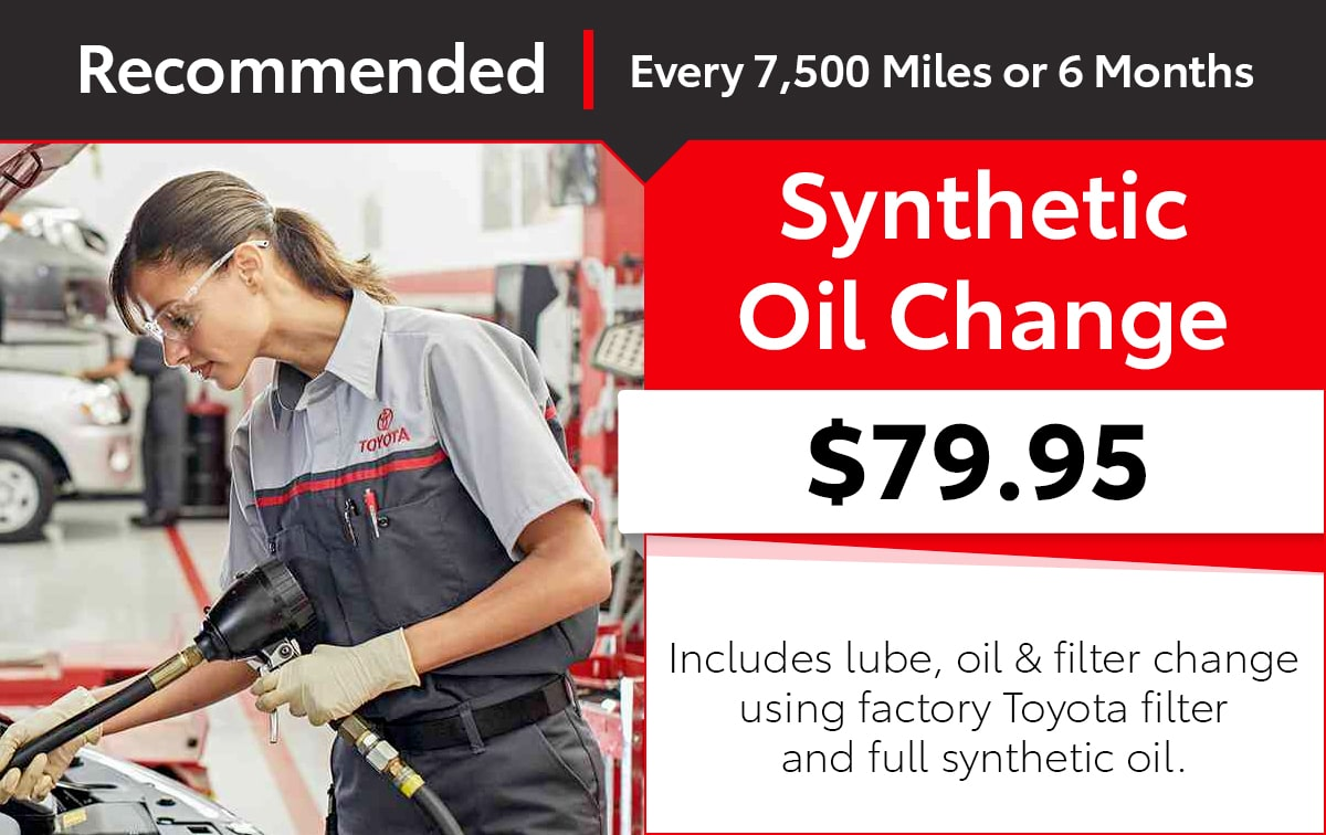 Toyota Synthetic Oil Change Service Special Coupon