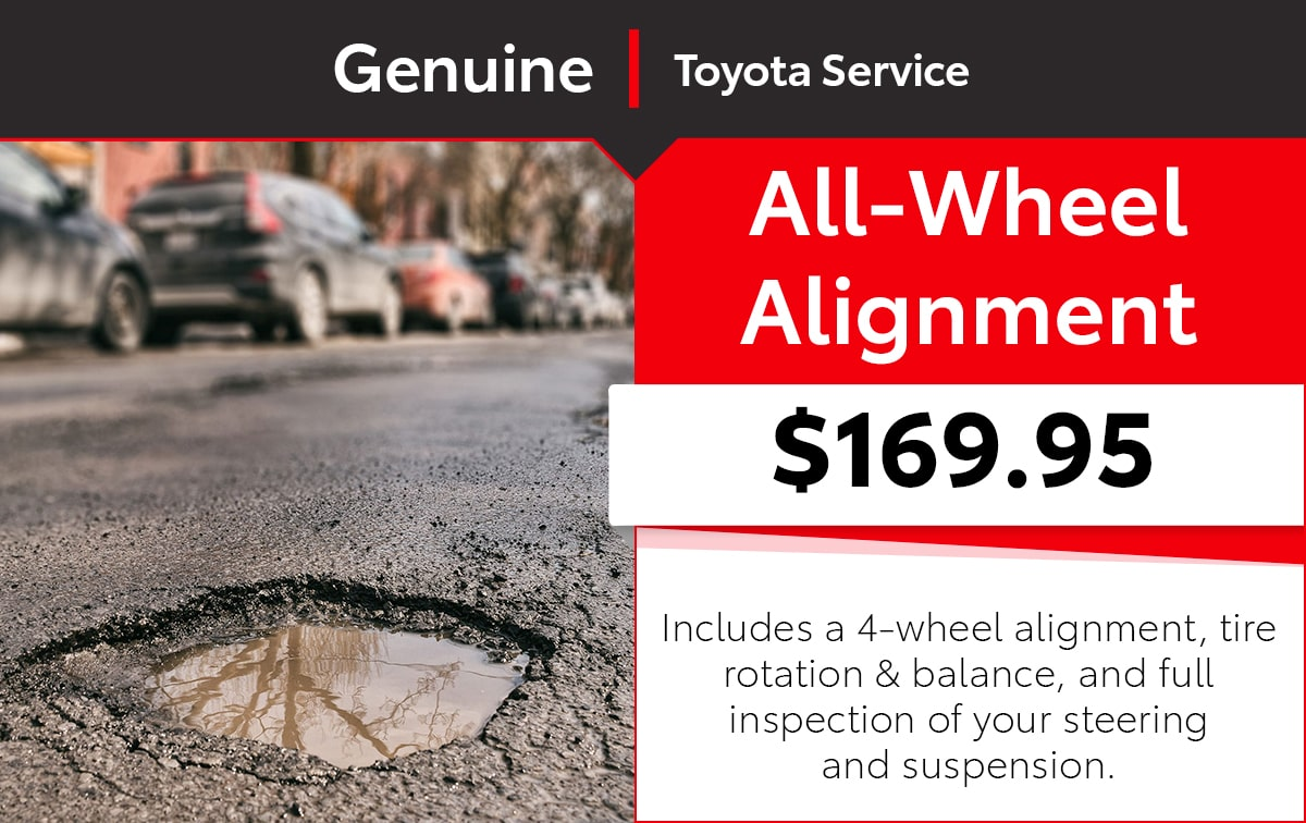 Toyota All-Wheel Alignment Service Special Coupon