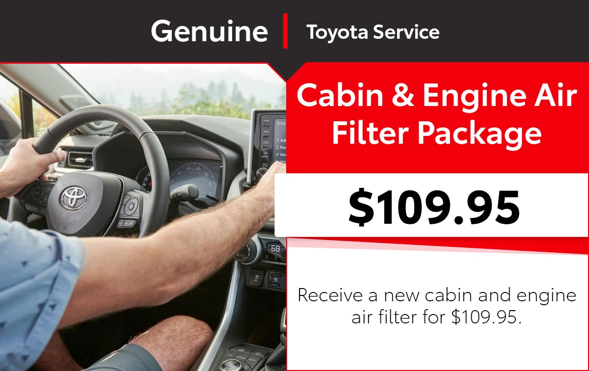 Toyota Cabin & Engine Air Filter Combo Service Special Coupon