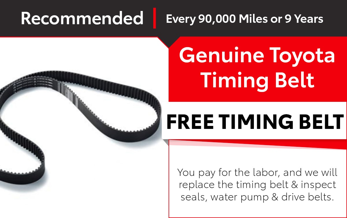 Toyota Timing Belt Service Special Coupon