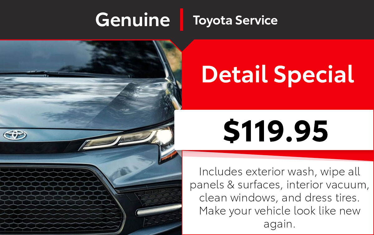 Toyota Detail Service Special Coupon