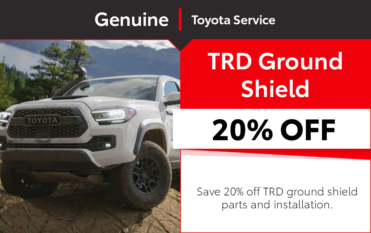 Toyota TRD Ground Shield Service Special Coupon