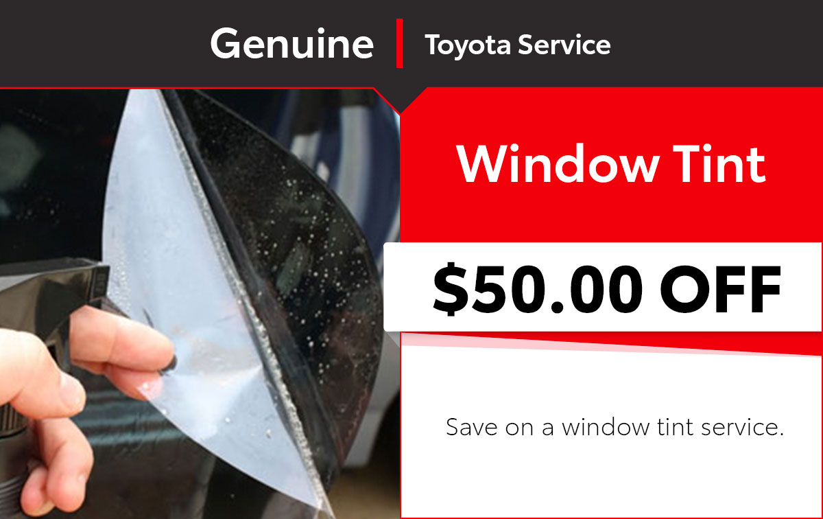 Toyota Window Tint Service Special Coupon