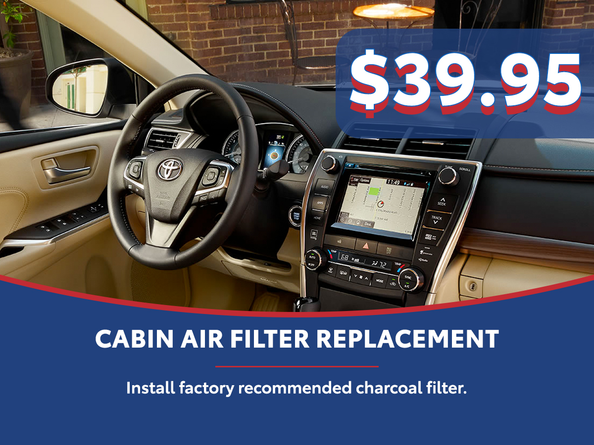 Toyota Cabin Air Filter Replacement Service Special Coupon