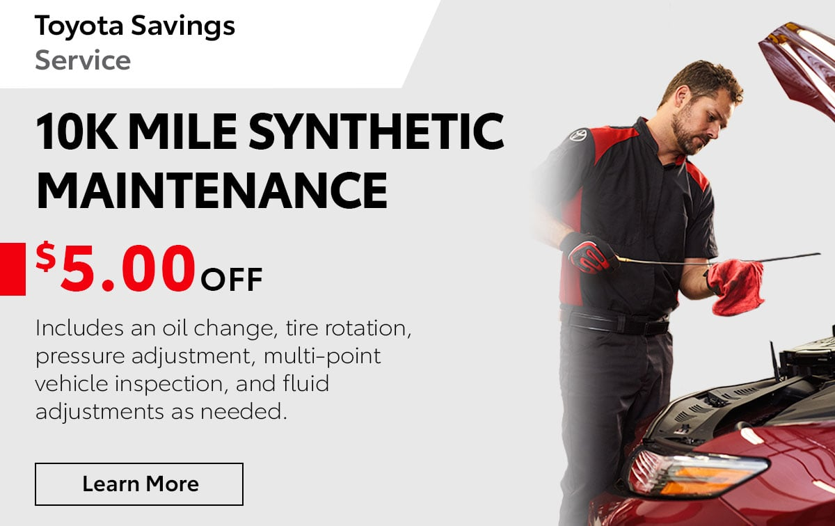 10k Mile Synthetic Maintenance Special Coupon
