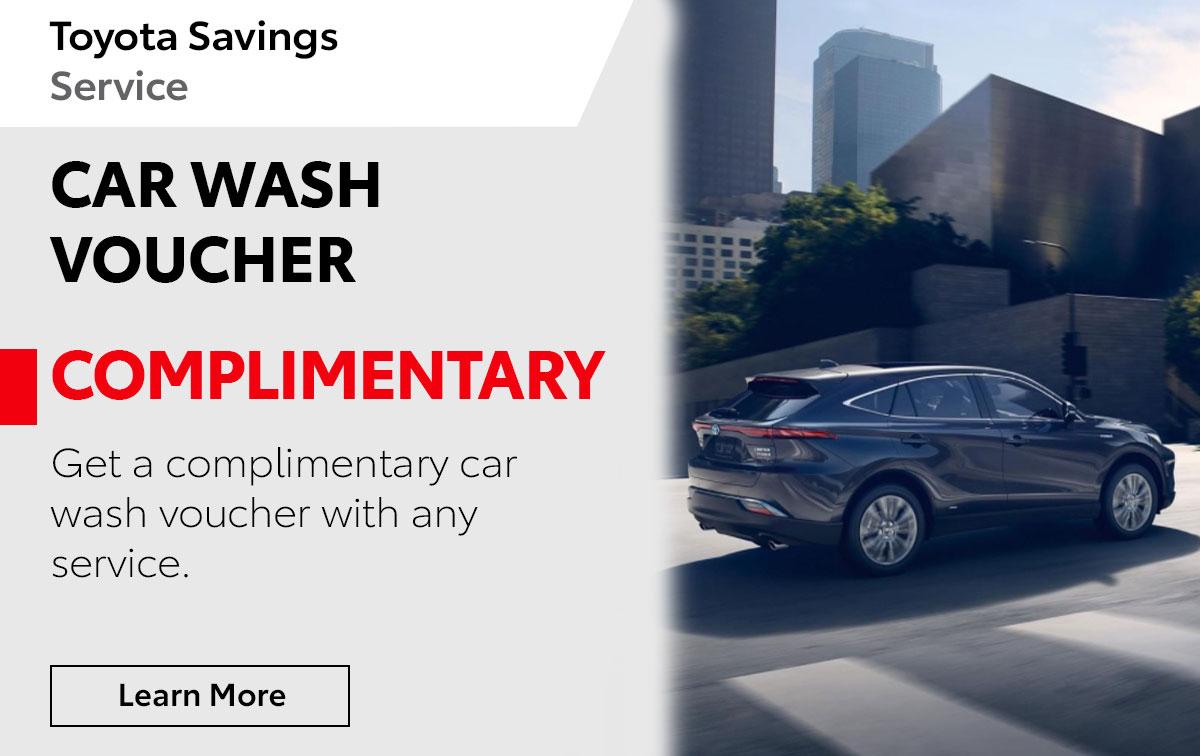 Complimentar Car Wash Voucher Special Coupon