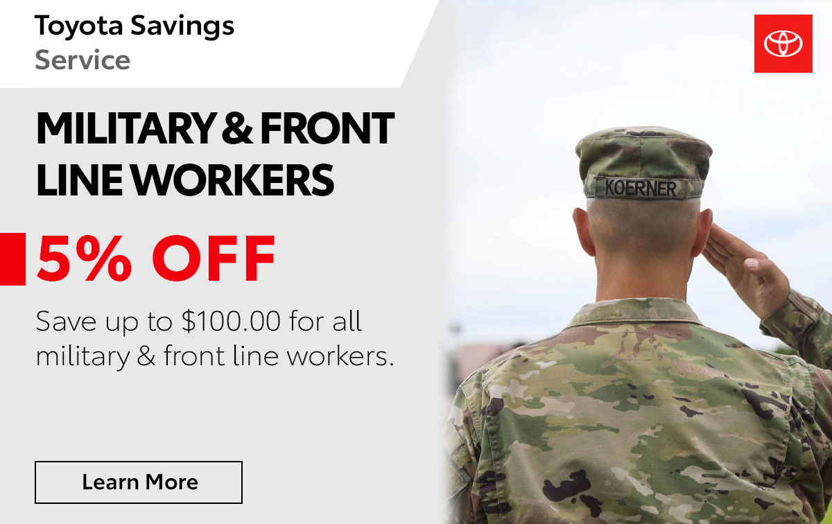 Toyota Military Special Coupon