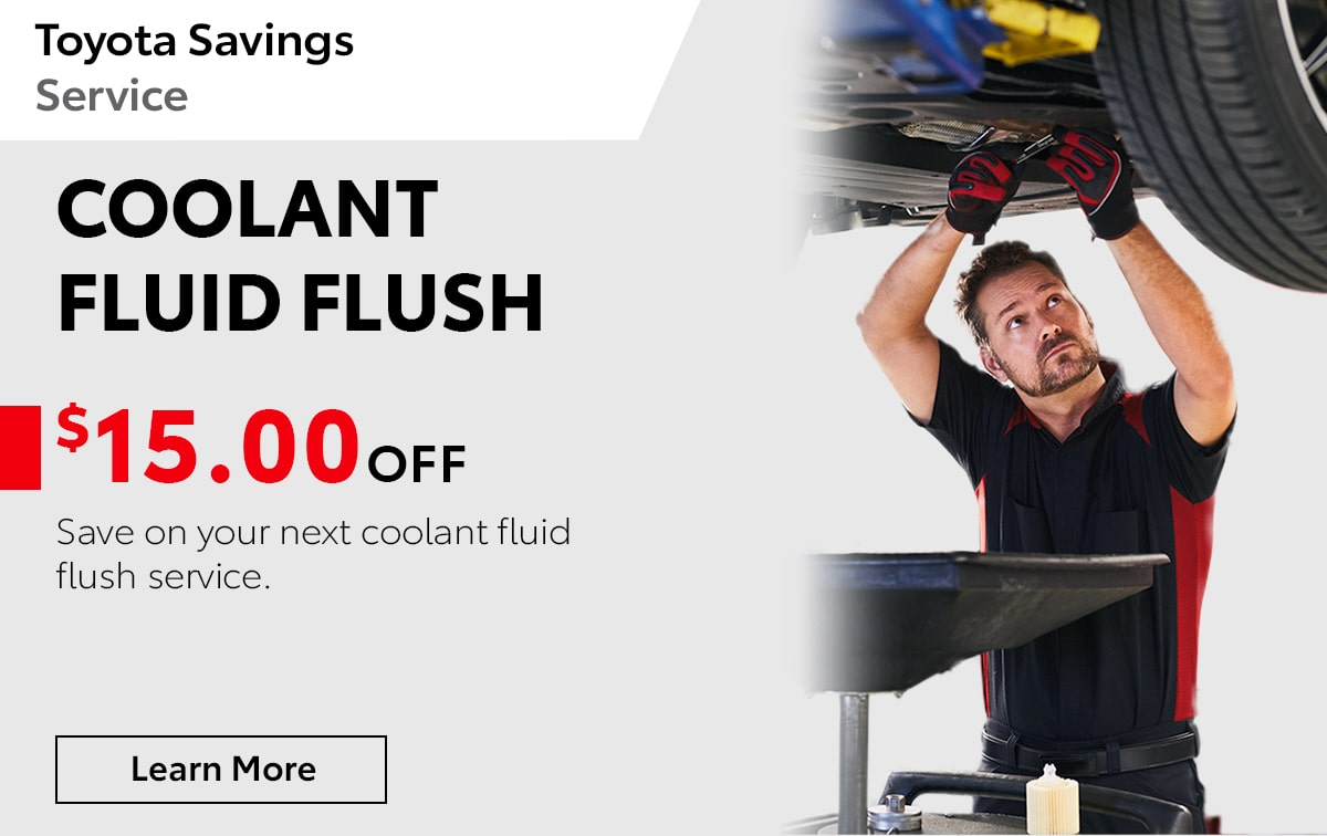 Toyota Coolant Fluid Flush Special Coupon