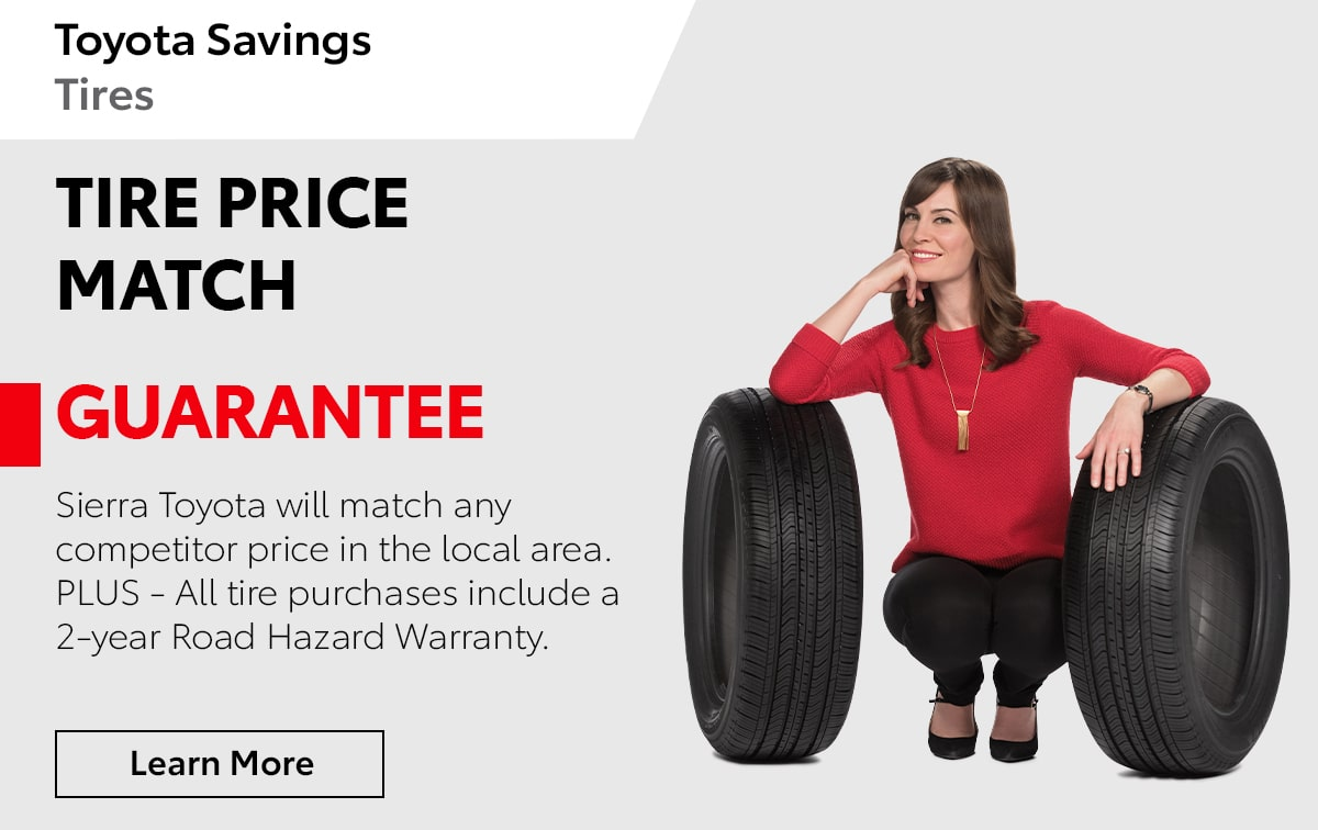 Toyota Tire Price Match Special Coupon