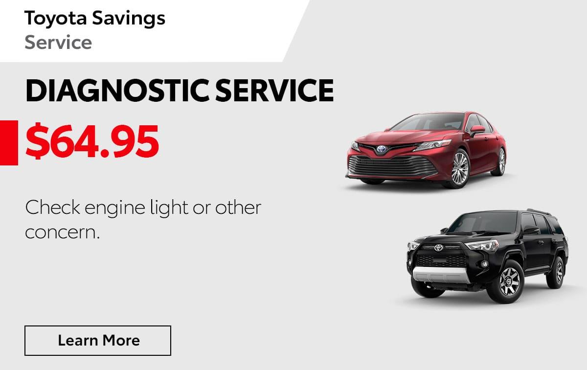 Toyota Diagnostic Service Special Coupon