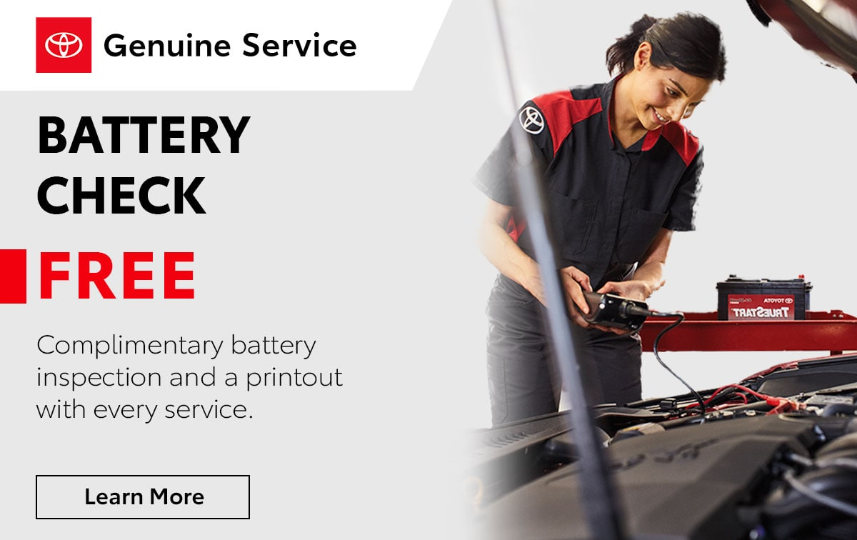 Toyota Battery Check Service Special Coupon