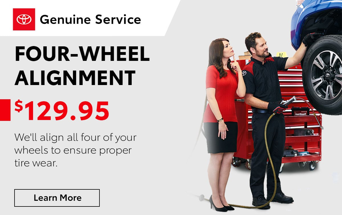 Toyota 4-Wheel Alignment Service Special Coupon