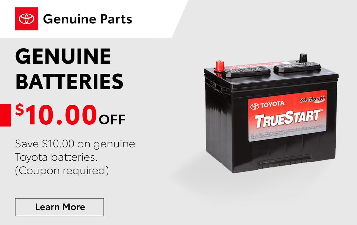Toyota Genuine Batteries Service Special Coupon