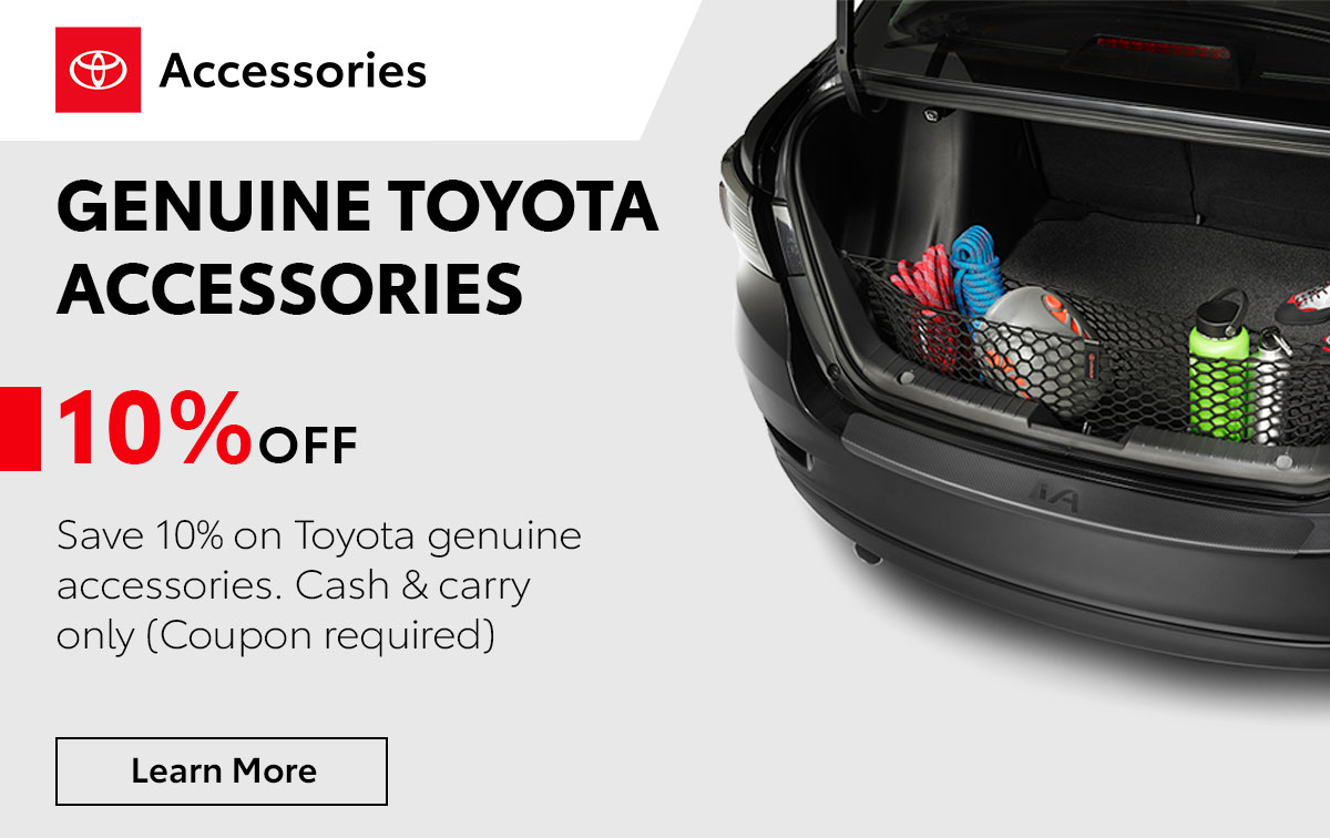 Toyota Genuine Toyota Accessories Service Special Coupon
