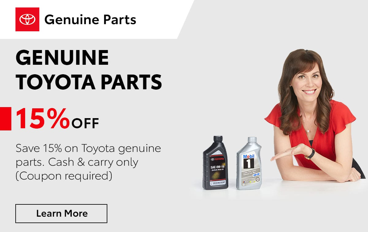 Toyota Genuine Toyota Parts Service Special Coupon