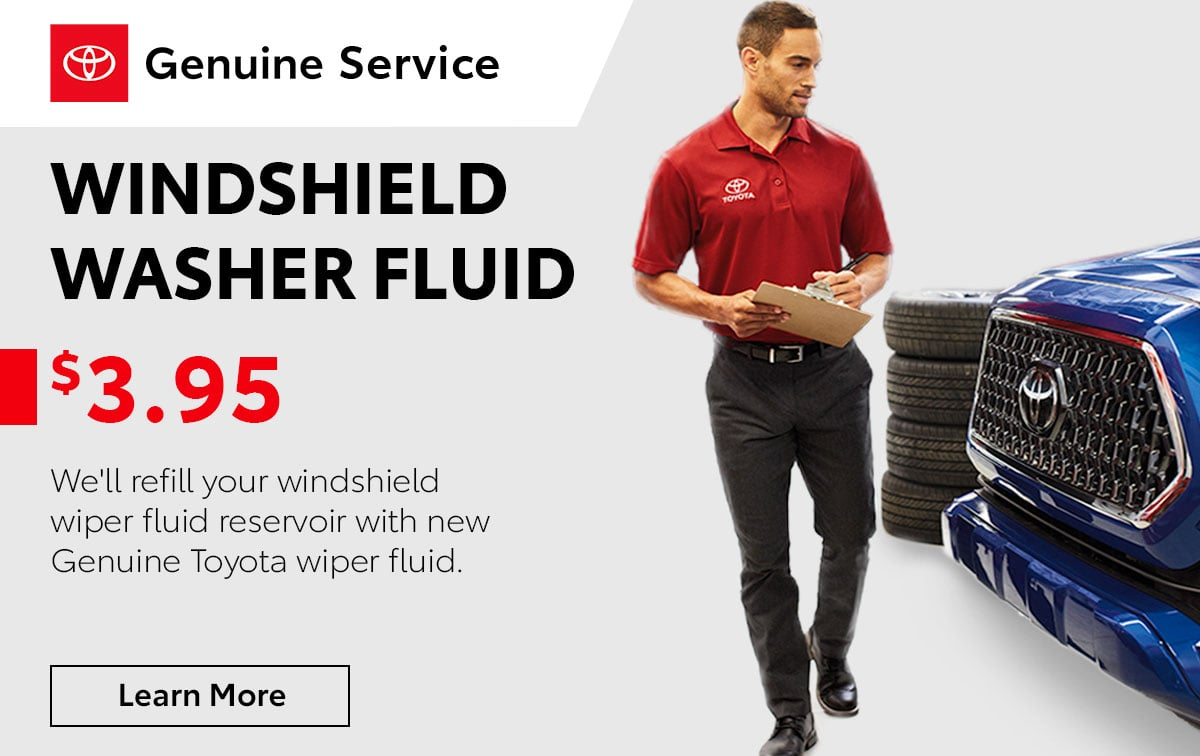 Toyota Windshield Washer Fluid Service Special Coupon