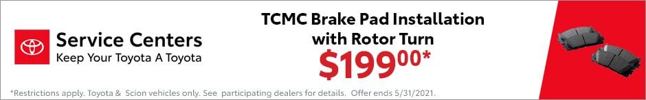Toyota $199 Brake Offer
