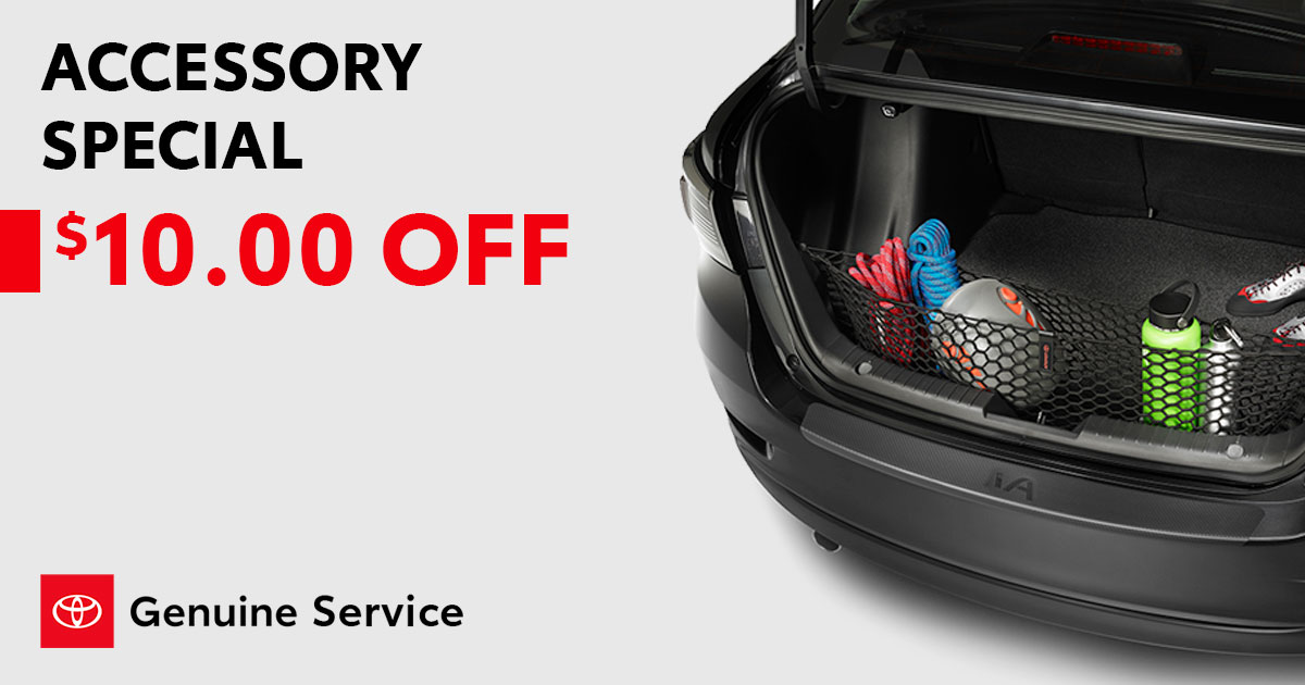 Toyota Accessory Special Coupon