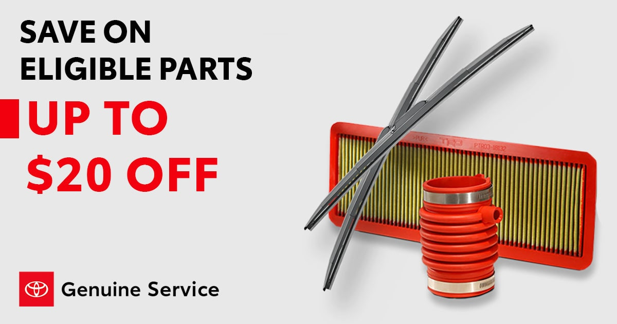 Toyota Save On Eligible Parts Service Special Coupon