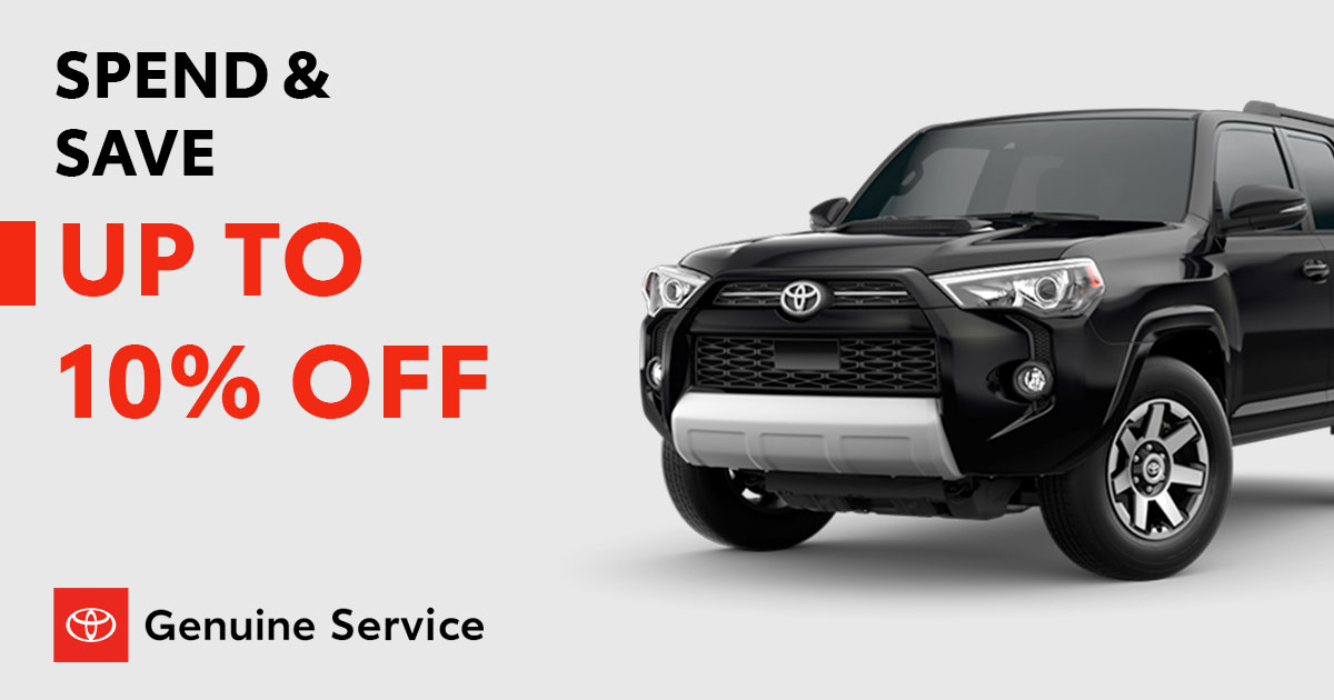 Toyota Spend & Save Service Special Coupon