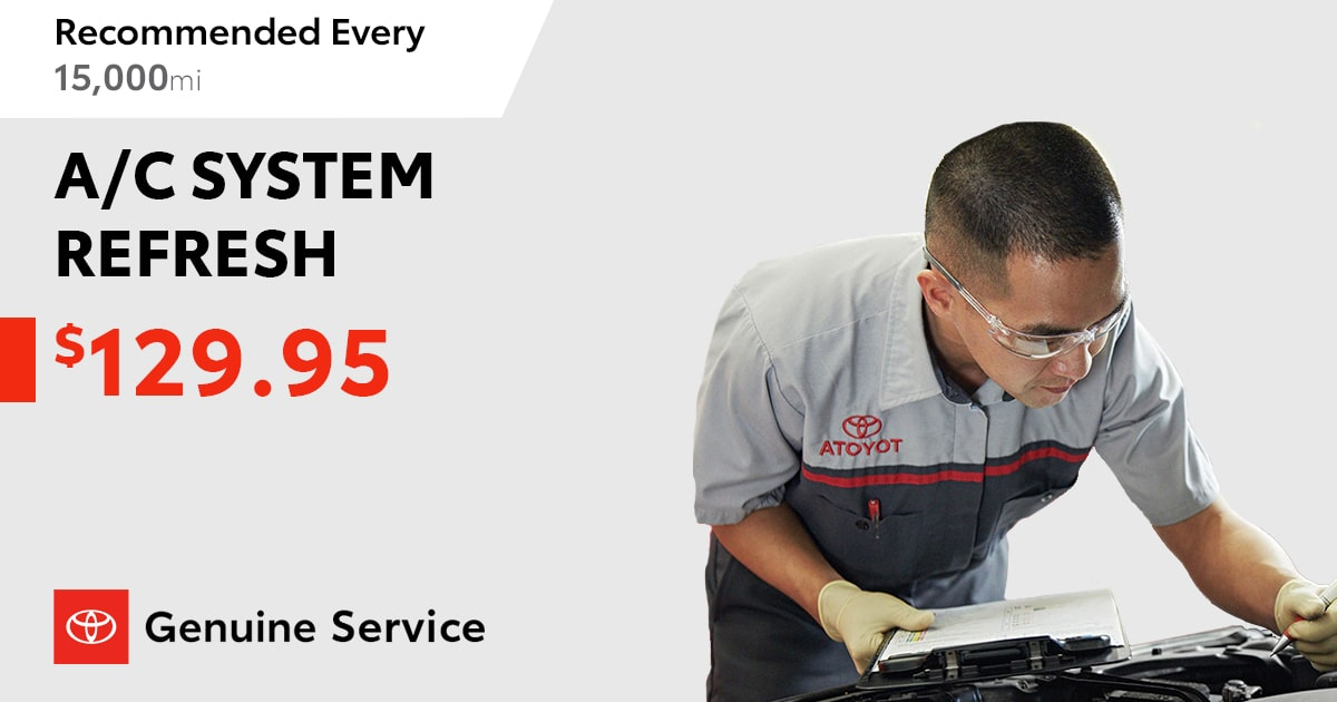 Toyota A/C System Refresh Service Special Coupon