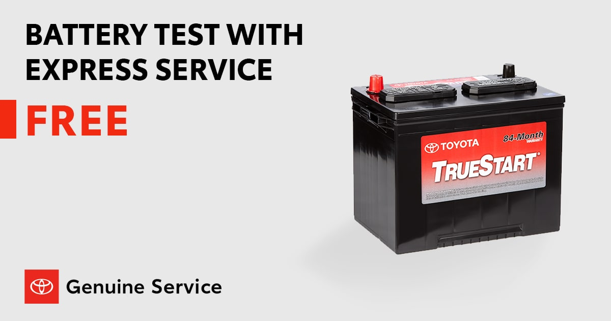 Toyota Battery Test With Express Service Special Coupon