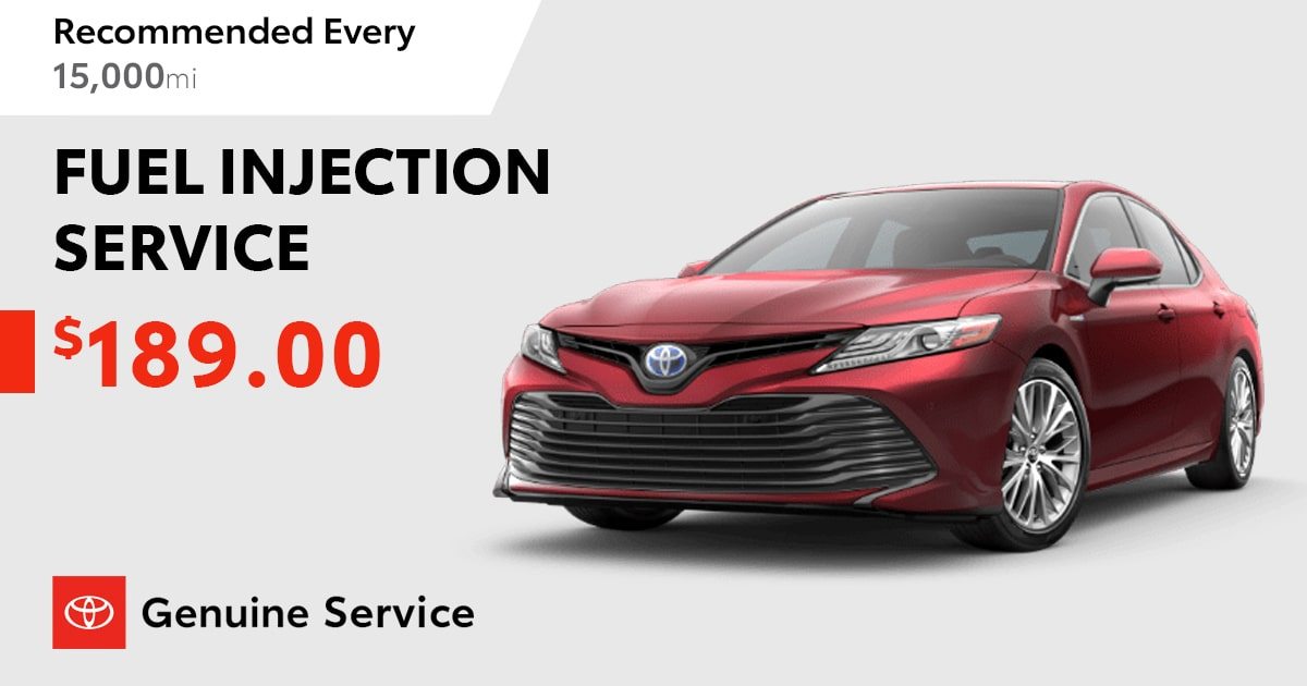 Toyota Fuel Injection Service Special Coupon