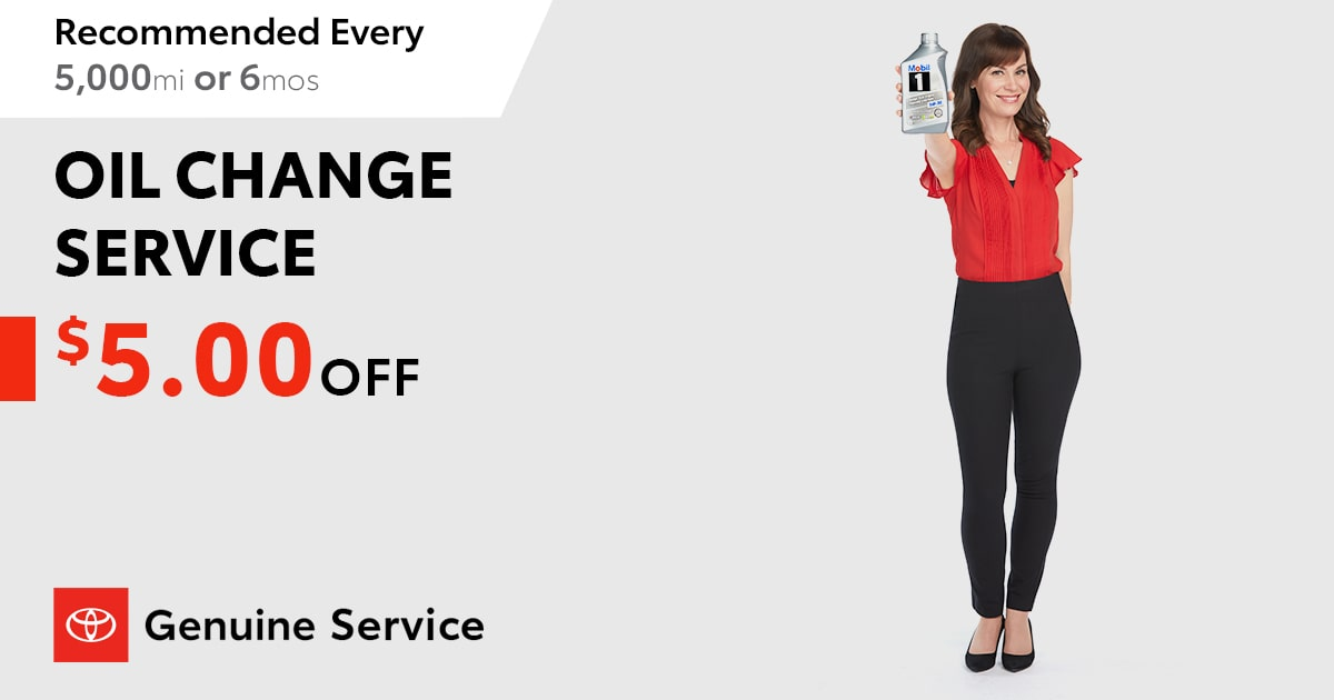 Toyota Oil Change Service Special Coupon