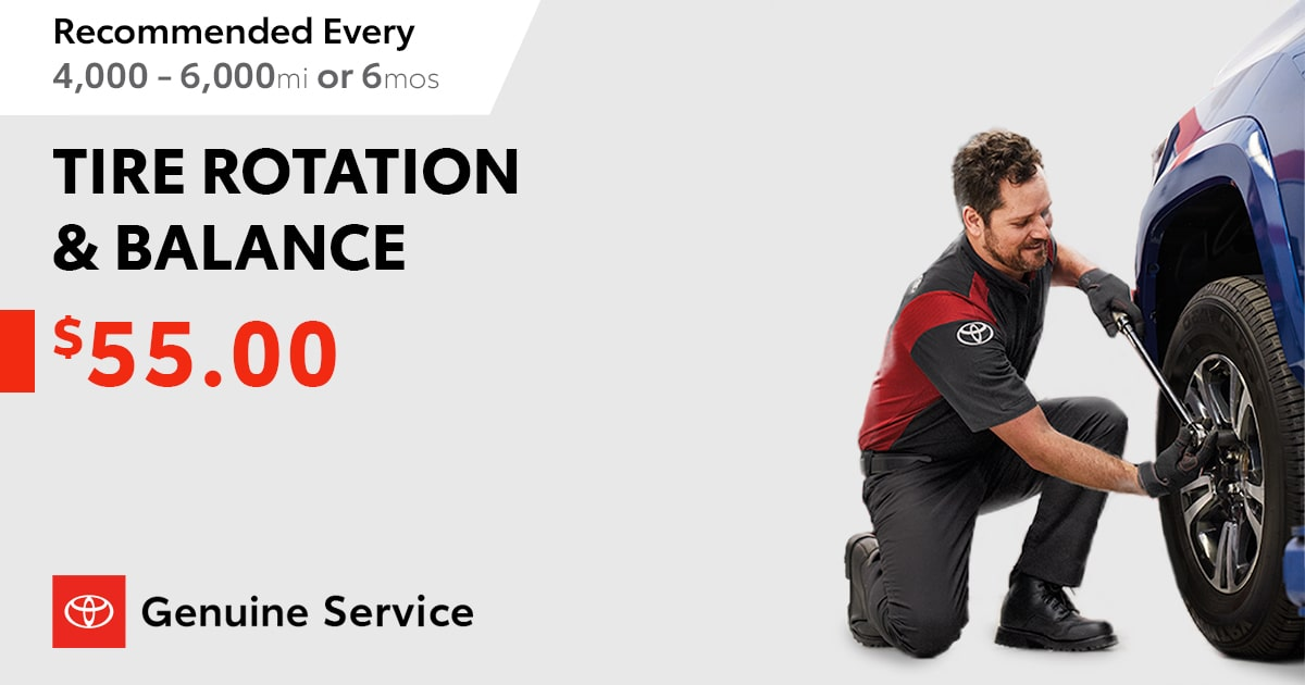 Toyota Tire Rotation & Balance Service Special Coupon