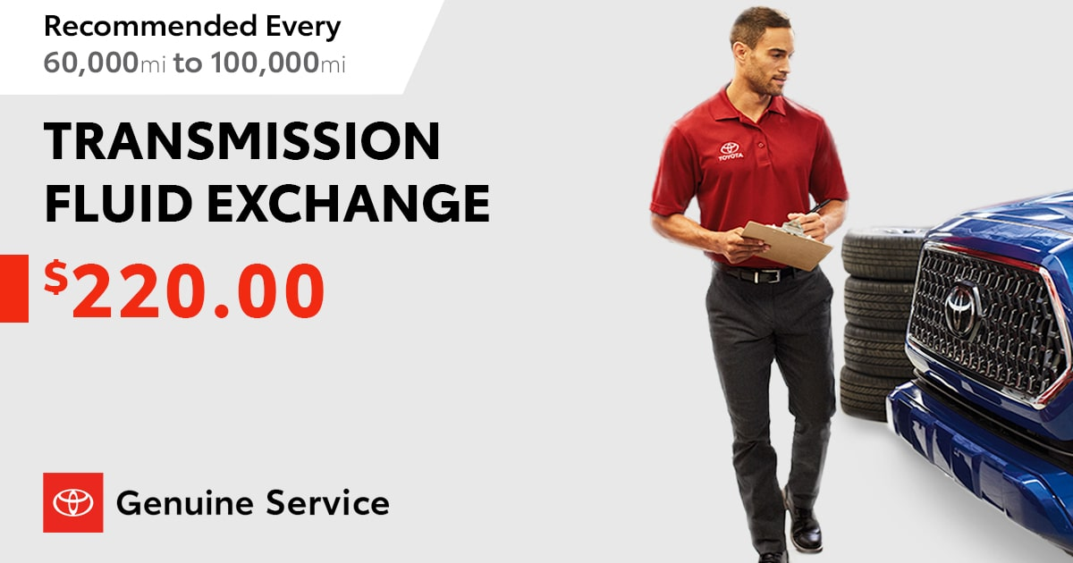 Toyota Transmission Fluid Exchange Service Special Coupon