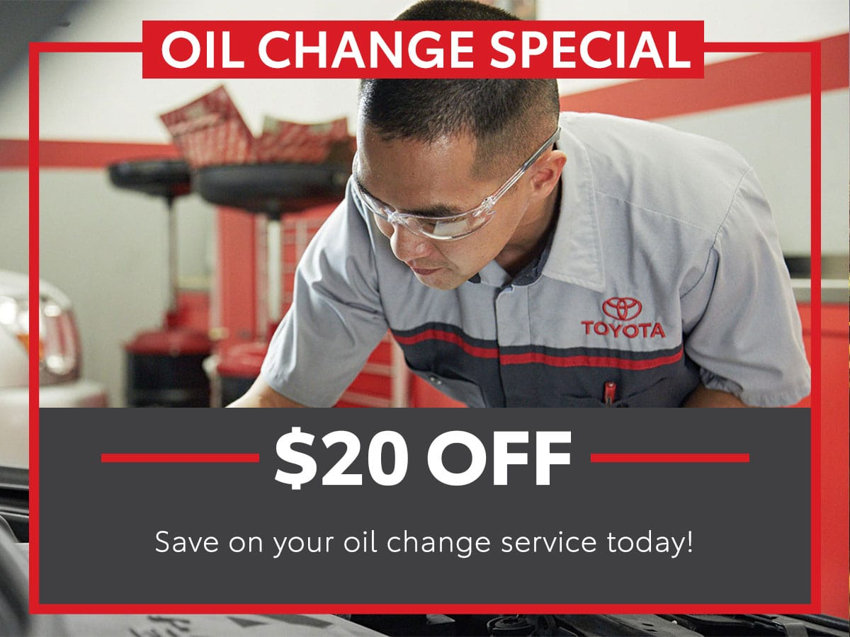 Toyota Oil Change Service Special