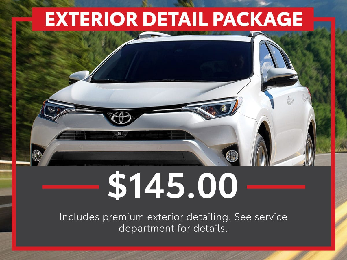 Toyota Exterior Detail Package Service Special Coupon