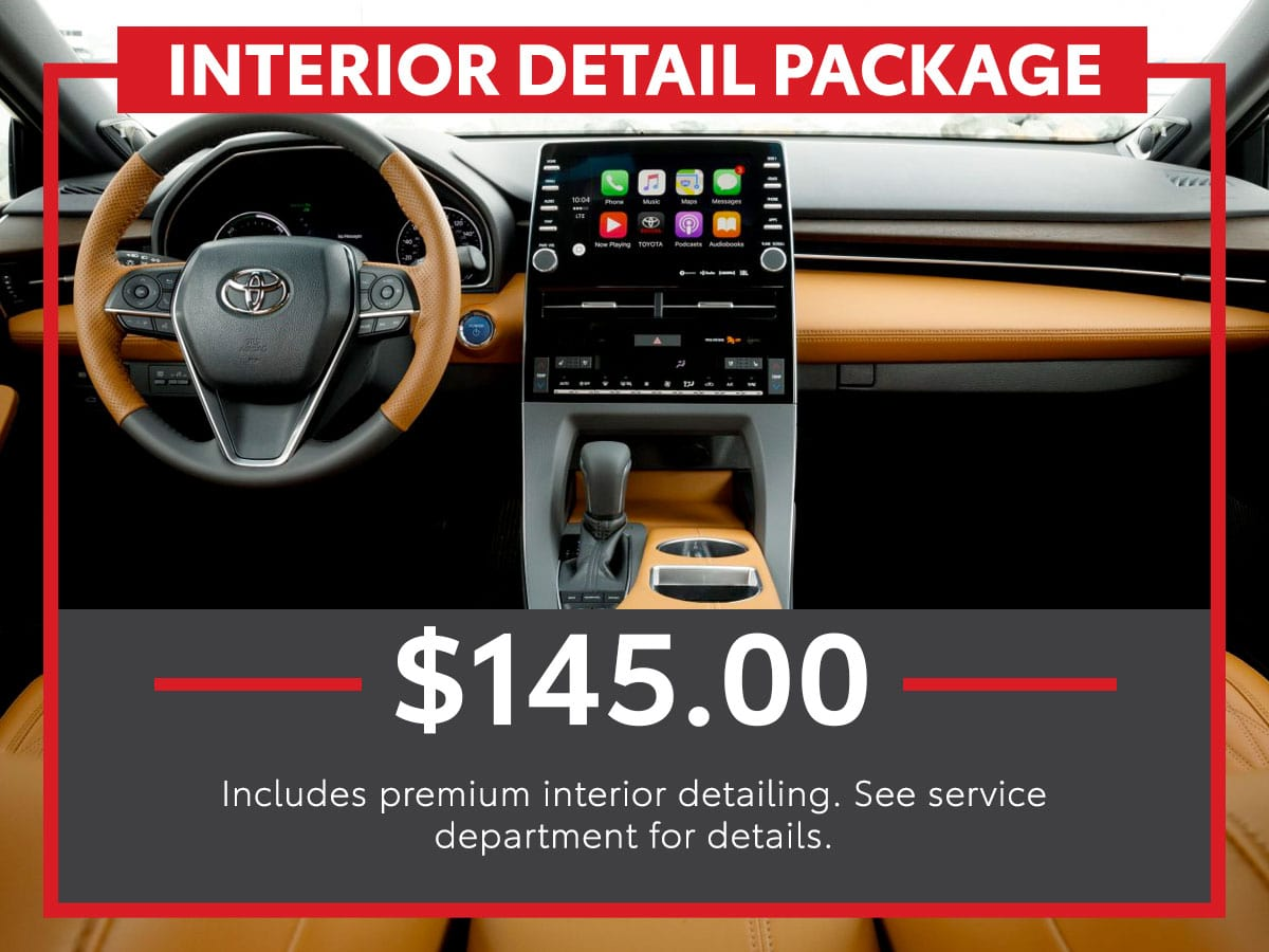 Toyota Interior Detail Package Service Special Coupon
