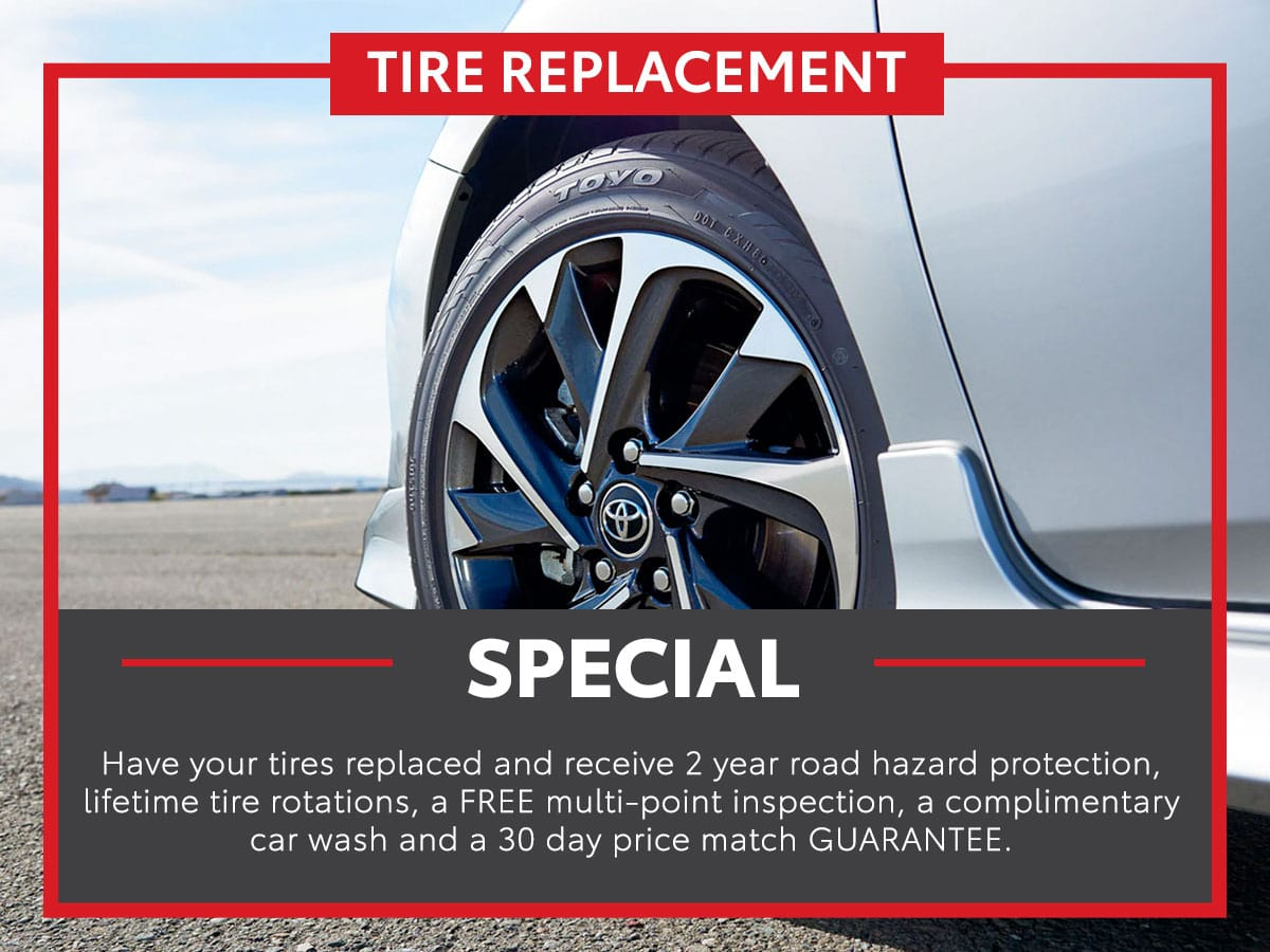 Toyota Tire Replacement Service Special Coupon