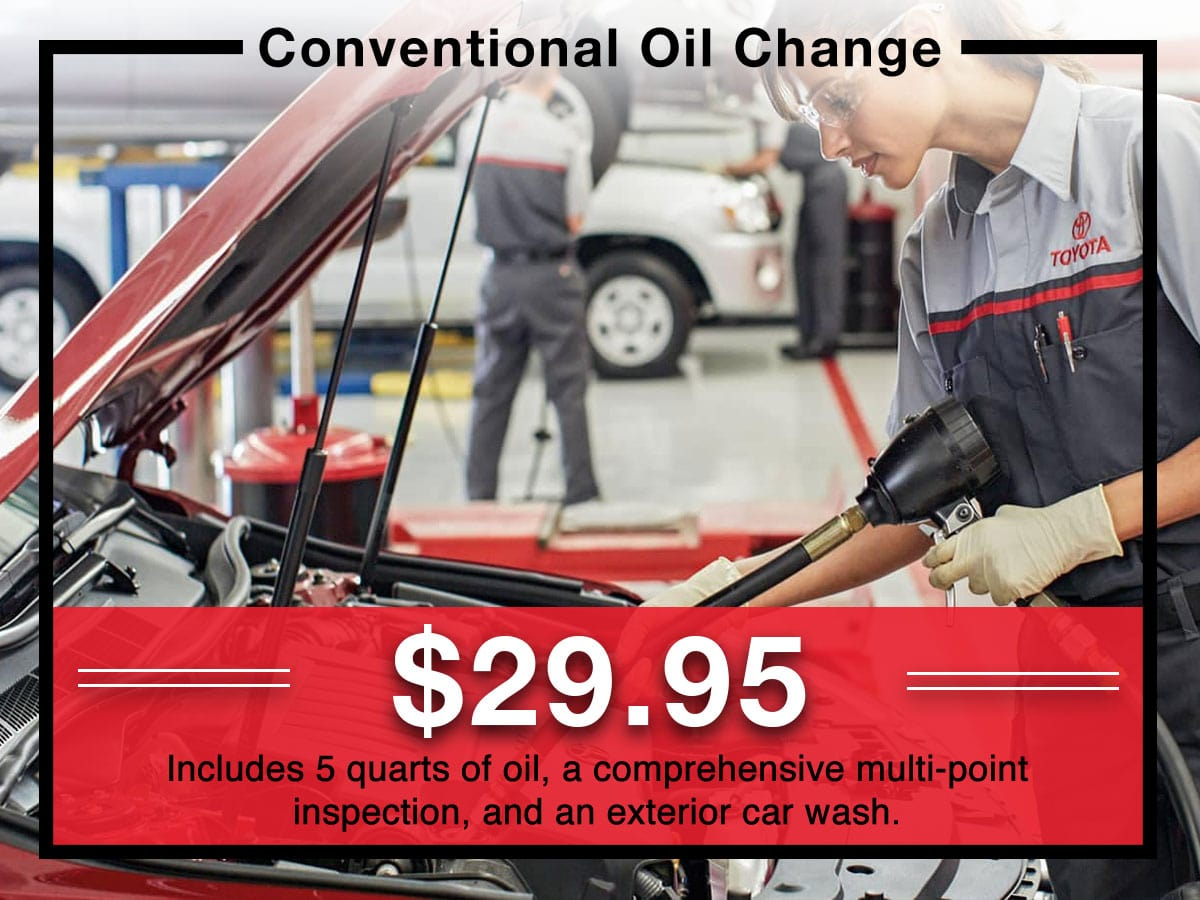 Toyota Conventional Oil Service Special Coupon