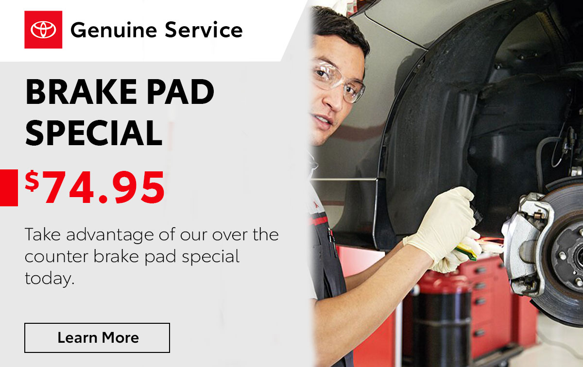 Toyota Brake Pad Service Special Coupon