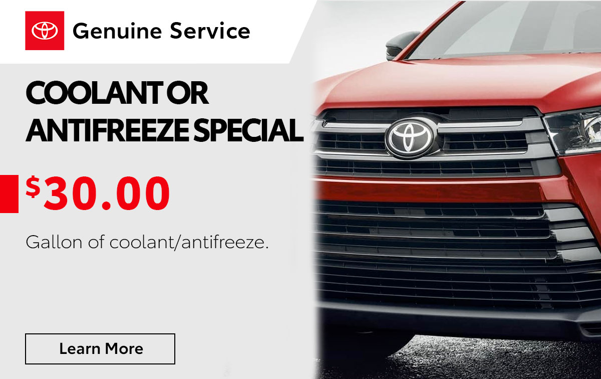 Toyota Coolant/Antifreeze Service Special Coupon