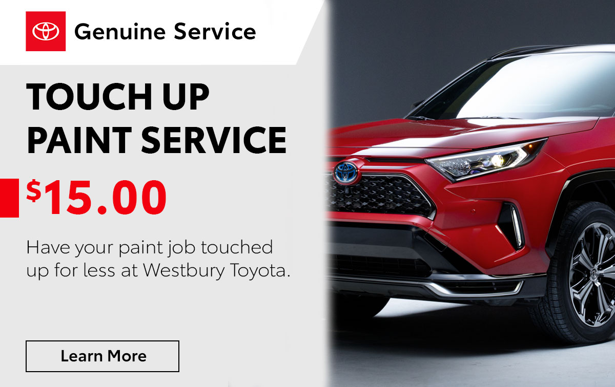 Toyota Touch Up Paint Service Special Coupon