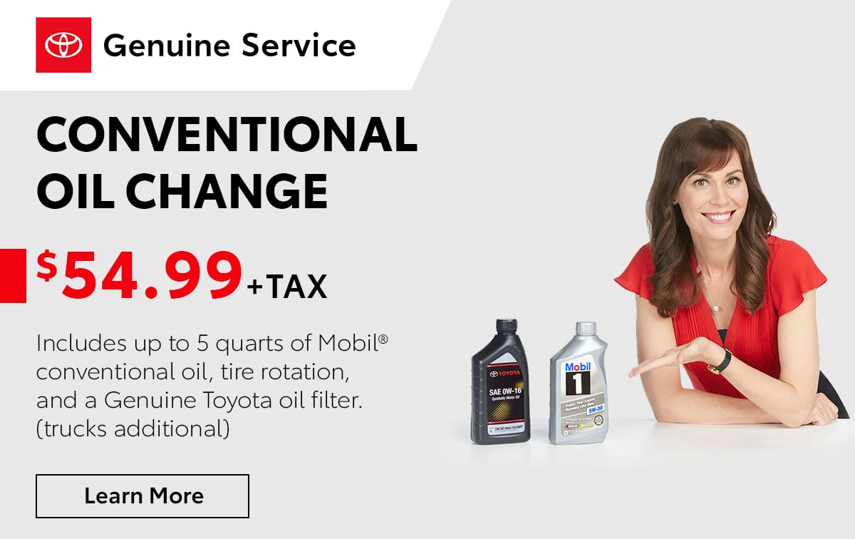Toyota Conventional Oil Change Special Coupon