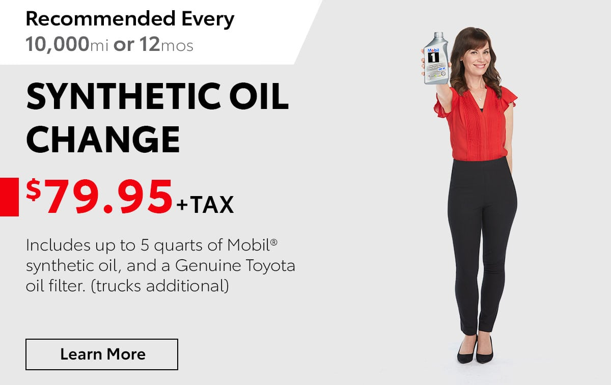 Toyota Synthetic Oil Change Special Coupon