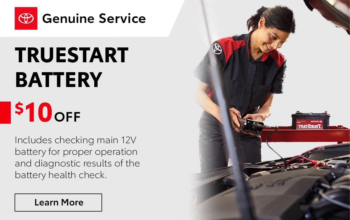 Toyota TrueStart Battery Service Special Coupon